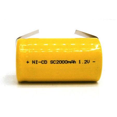Sub C Ni-Cd 1,2V 2000mAh